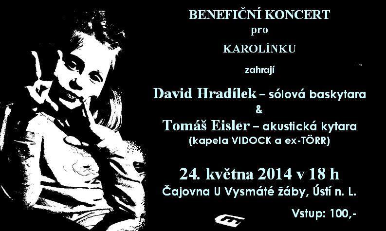 Benefiční koncert pro Karolínku (plakát)